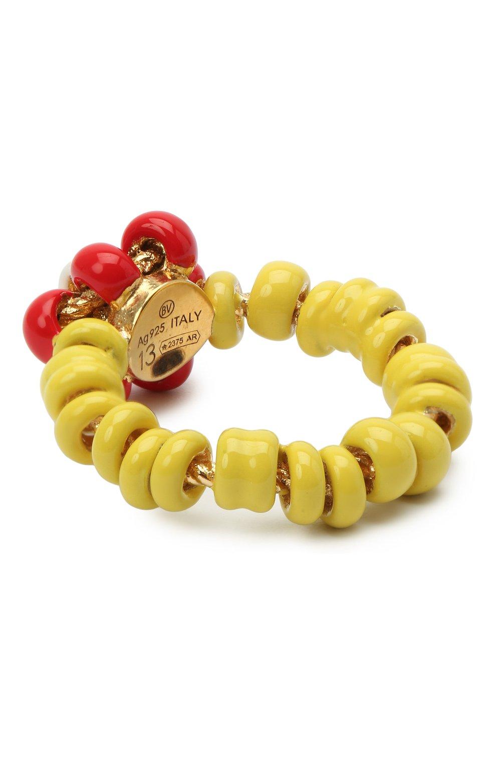 Женское кольцо BOTTEGA VENETA желтого цвета, арт. 649317/VAHU4   Фото 2