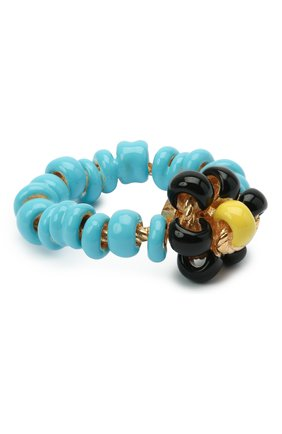 Женское кольцо BOTTEGA VENETA голубого цвета, арт. 649317/VAHU4   Фото 1