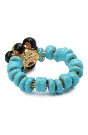 Женское кольцо BOTTEGA VENETA голубого цвета, арт. 649317/VAHU4   Фото 2