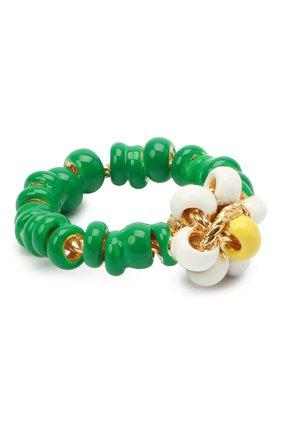 Женское кольцо BOTTEGA VENETA зеленого цвета, арт. 649317/VAHU4 | Фото 1