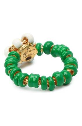 Женское кольцо BOTTEGA VENETA зеленого цвета, арт. 649317/VAHU4 | Фото 2