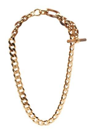 Женское колье BOTTEGA VENETA золотого цвета, арт. 649221/VE3B1   Фото 1