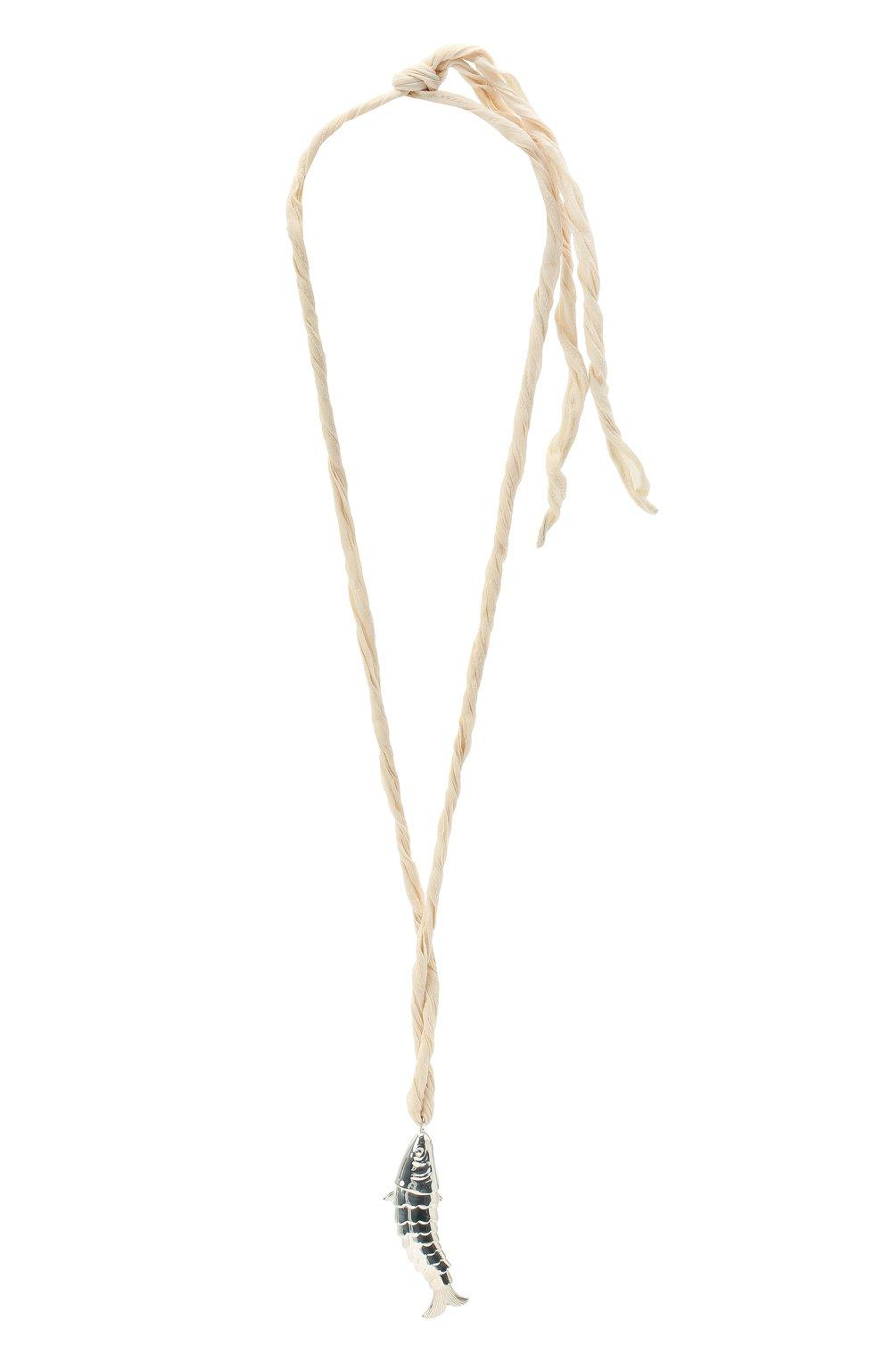 Женское колье JIL SANDER белого цвета, арт. JSPS831357/WSS84015 | Фото 1