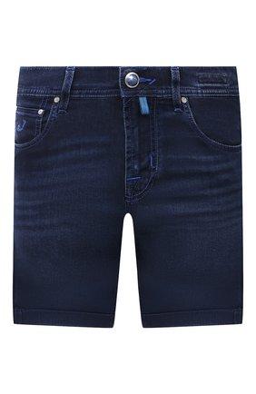 Мужские джинсовые шорты JACOB COHEN темно-синего цвета, арт. J6636 C0MF 02401-W1/55 | Фото 1 (Материал внешний: Хлопок; Длина Шорты М: До колена; Кросс-КТ: Деним; Стили: Кэжуэл; Принт: Без принта)
