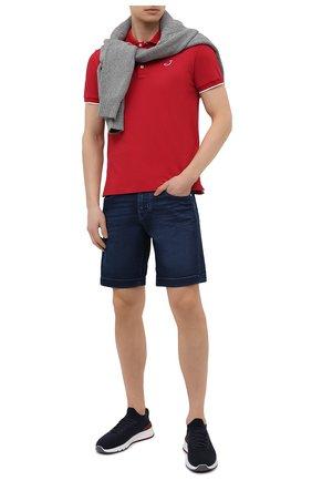 Мужские джинсовые шорты JACOB COHEN темно-синего цвета, арт. J6636 C0MF 02401-W1/55 | Фото 2 (Материал внешний: Хлопок; Длина Шорты М: До колена; Кросс-КТ: Деним; Стили: Кэжуэл; Принт: Без принта)