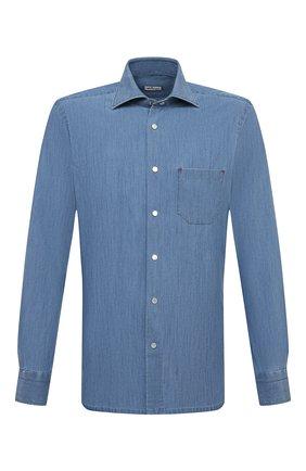 Мужская рубашка KITON темно-синего цвета, арт. UMCNERCH0763003 | Фото 1