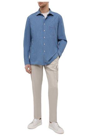 Мужская рубашка KITON темно-синего цвета, арт. UMCNERCH0763003 | Фото 2