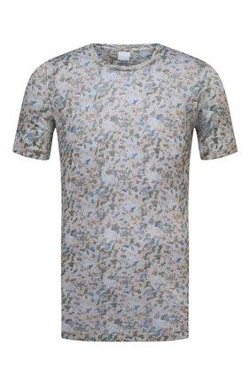 Мужская льняная футболка 120% LINO разноцветного цвета, арт. T0M7186/F937/S00 | Фото 1