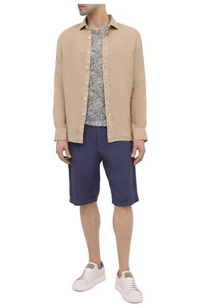 Мужская льняная футболка 120% LINO разноцветного цвета, арт. T0M7186/F937/S00 | Фото 2
