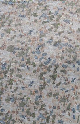 Мужская льняная футболка 120% LINO разноцветного цвета, арт. T0M7186/F937/S00 | Фото 5 (Рукава: Короткие; Длина (для топов): Стандартные; Принт: С принтом; Материал внешний: Лен; Стили: Кэжуэл)