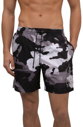 Мужские плавки-шорты DOLCE & GABBANA серого цвета, арт. M4B16T/HSMND | Фото 2