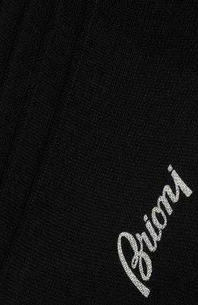 Мужские хлопковые носки BRIONI темно-синего цвета, арт. 0VMC00/P9Z03 | Фото 2 (Материал внешний: Хлопок; Кросс-КТ: бельё)