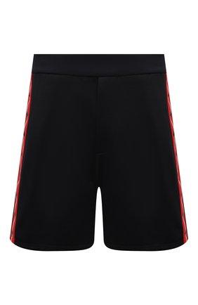 Мужские шорты DSQUARED2 черного цвета, арт. S74MU0643/S25497 | Фото 1 (Длина Шорты М: До колена; Материал внешний: Хлопок, Синтетический материал; Кросс-КТ: Трикотаж; Стили: Спорт-шик; Принт: Без принта)