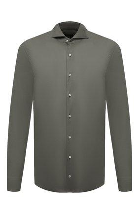 Мужская хлопковая рубашка VAN LAACK хаки цвета, арт. M-PER-L/180031 | Фото 1
