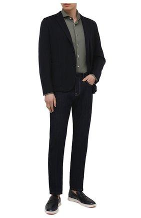 Мужская хлопковая рубашка VAN LAACK хаки цвета, арт. M-PER-L/180031 | Фото 2