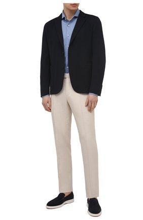 Мужская хлопковая рубашка VAN LAACK голубого цвета, арт. M-PER-L/180031 | Фото 2