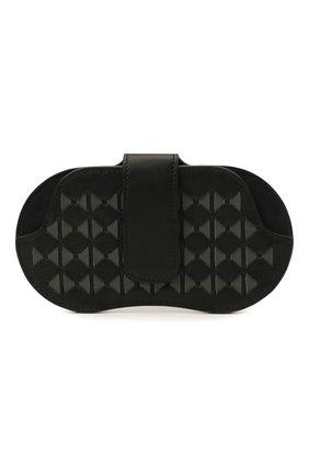 Мужской кожаный футляр для очков SERAPIAN черного цвета, арт. SRM0SMSL715916A | Фото 1