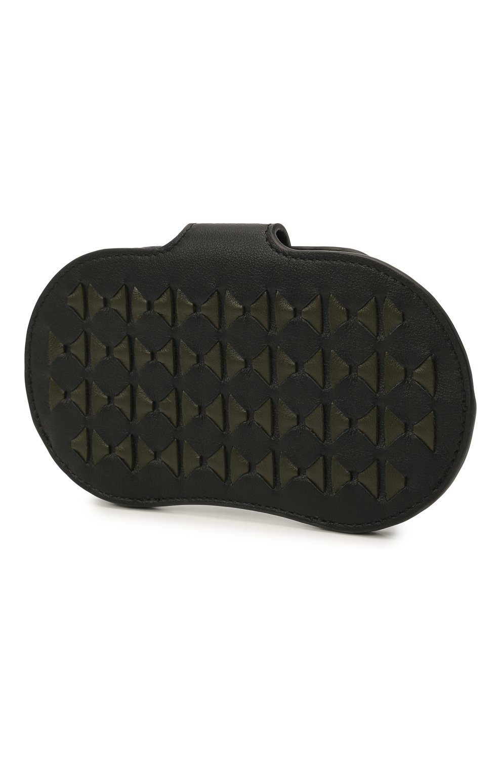 Мужской кожаный футляр для очков SERAPIAN хаки цвета, арт. SRM0SMSL715916A | Фото 2 (Кросс-КТ: обложки и футляры)