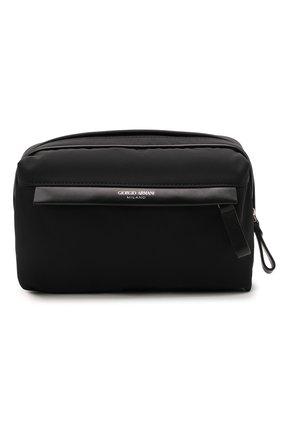 Мужская текстильная сумка GIORGIO ARMANI черного цвета, арт. Y2M243/YI69E | Фото 1