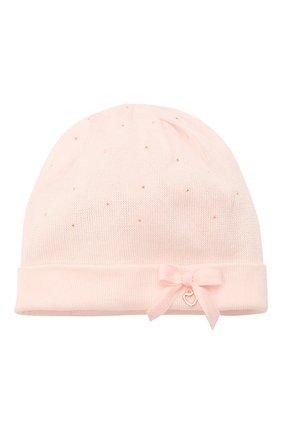 Детского хлопковая шапка IL TRENINO светло-розового цвета, арт. 21 5350 | Фото 1