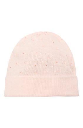 Детского хлопковая шапка IL TRENINO светло-розового цвета, арт. 21 5350 | Фото 2