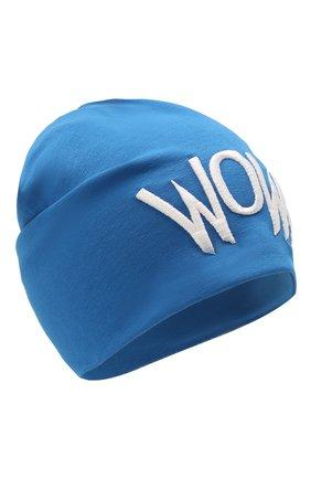 Детского хлопковая шапка IL TRENINO синего цвета, арт. 21 5272 | Фото 1