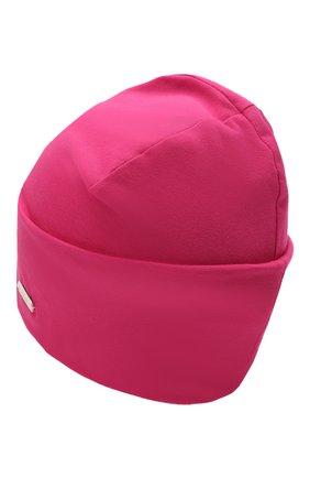 Детского хлопковая шапка IL TRENINO фуксия цвета, арт. 21 5272 | Фото 2 (Материал: Хлопок, Текстиль)