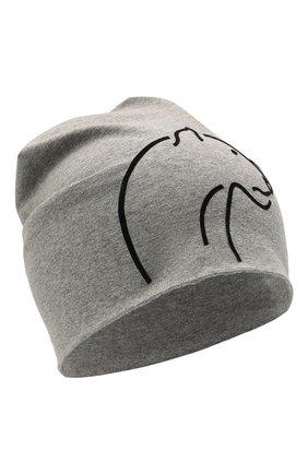 Детского хлопковая шапка IL TRENINO светло-серого цвета, арт. 21 5264 | Фото 1