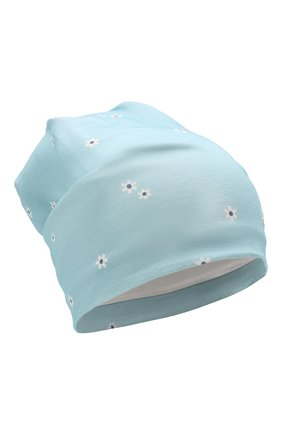 Детского хлопковая шапка IL TRENINO голубого цвета, арт. 21 5244 | Фото 1