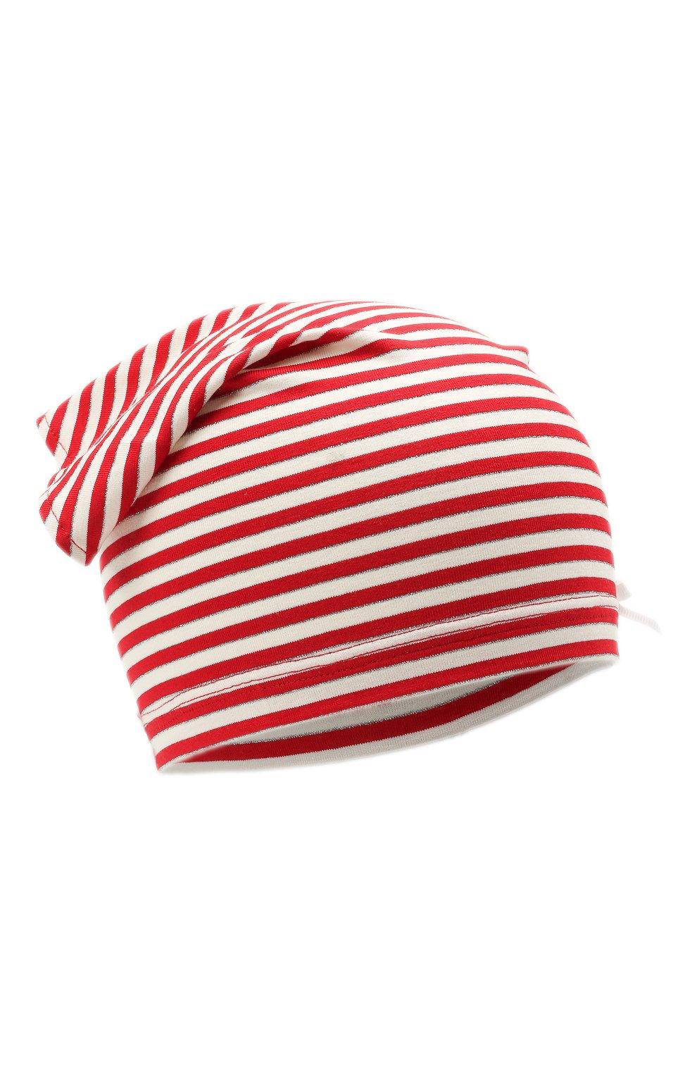 Детская хлопковая бандана IL TRENINO красного цвета, арт. 21 5233   Фото 1 (Материал: Текстиль, Хлопок)