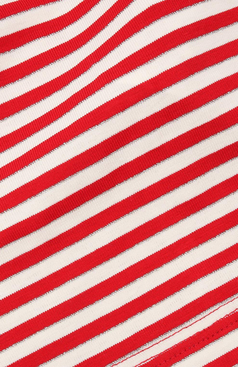 Детская хлопковая бандана IL TRENINO красного цвета, арт. 21 5233   Фото 3 (Материал: Текстиль, Хлопок)