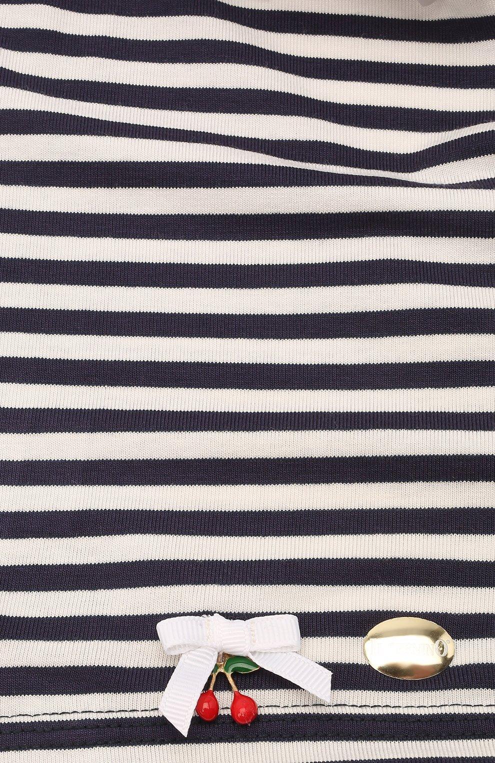 Детская хлопковая бандана IL TRENINO синего цвета, арт. 21 5233   Фото 3 (Материал: Текстиль, Хлопок)