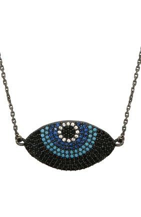 Женское колье глаз for fun DZHANELLI серебряного цвета, арт. 14738/090 | Фото 2