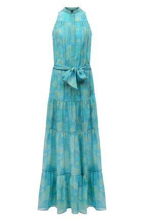 Женское шелковое платье KITON светло-зеленого цвета, арт. D49325TK09T91 | Фото 1