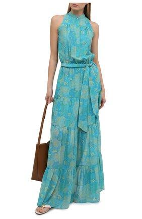 Женское шелковое платье KITON светло-зеленого цвета, арт. D49325TK09T91 | Фото 2