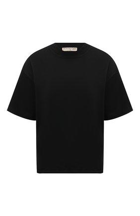 Женская хлопковая футболка ELECTRIC&ROSE черного цвета, арт. LFTP24 | Фото 1