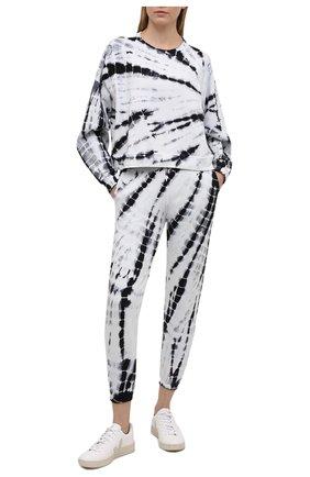 Женские хлопковые джоггеры ELECTRIC&ROSE черно-белого цвета, арт. LFBT20-AMBIENT | Фото 2