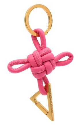 Женский брелок BOTTEGA VENETA розового цвета, арт. 619100/V0050 | Фото 1