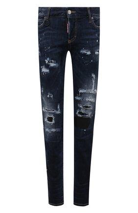 Женские джинсы DSQUARED2 темно-синего цвета, арт. S75LB0493/S30708 | Фото 1
