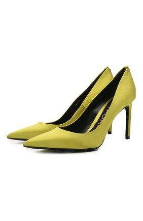 Женские текстильные туфли t-screw TOM FORD горчичного цвета, арт. W2326T-STA | Фото 1