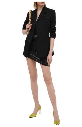 Женские текстильные туфли t-screw TOM FORD горчичного цвета, арт. W2326T-STA | Фото 2