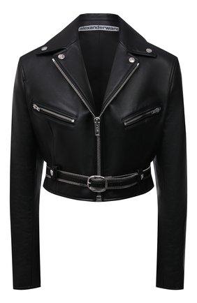 Женская кожаная куртка ALEXANDER WANG черного цвета, арт. 1WC2202224 | Фото 1
