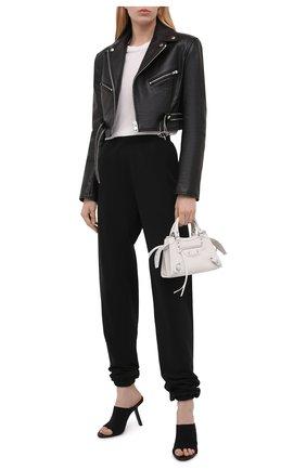 Женская кожаная куртка ALEXANDER WANG черного цвета, арт. 1WC2202224 | Фото 2