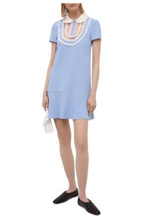 Женское платье REDVALENTINO голубого цвета, арт. VR3VAX85/5MD | Фото 2