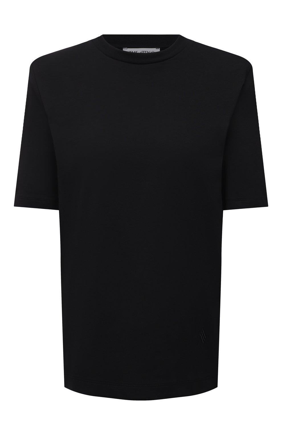 Женская хлопковая футболка THE ATTICO черного цвета, арт. 211WCT04/C023   Фото 1