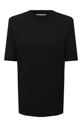 Женская хлопковая футболка THE ATTICO черного цвета, арт. 211WCT04/C023 | Фото 1