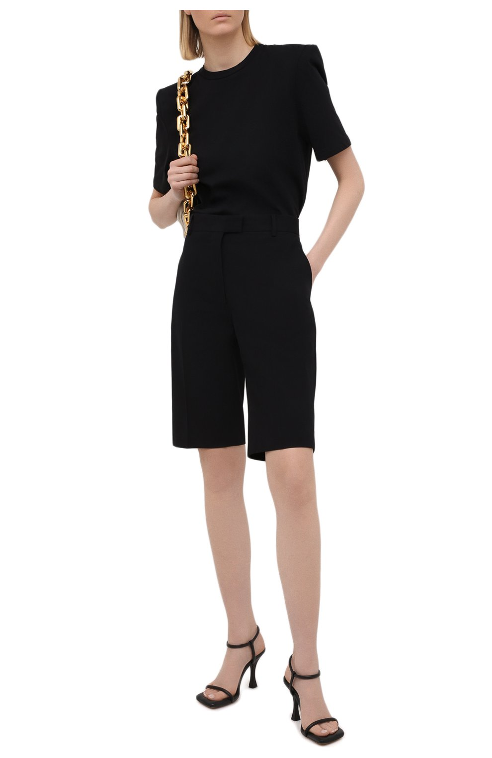 Женская хлопковая футболка THE ATTICO черного цвета, арт. 211WCT04/C023   Фото 2