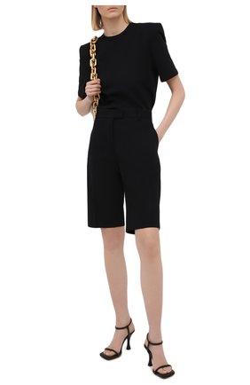 Женская хлопковая футболка THE ATTICO черного цвета, арт. 211WCT04/C023 | Фото 2