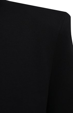 Женская хлопковая футболка THE ATTICO черного цвета, арт. 211WCT04/C023   Фото 5