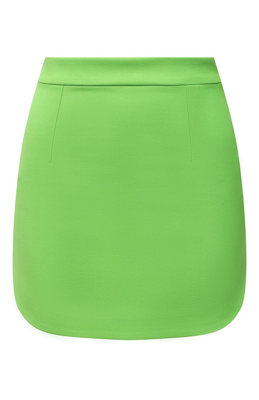 Женская шерстяная юбка THE ATTICO зеленого цвета, арт. 211WCS44/W009   Фото 1